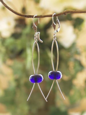 Earrings Leverback with Long Loop