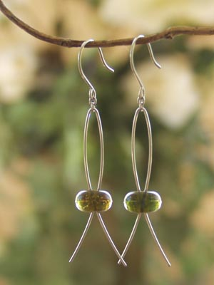 Earrings Shepherd Hook with Long Loop